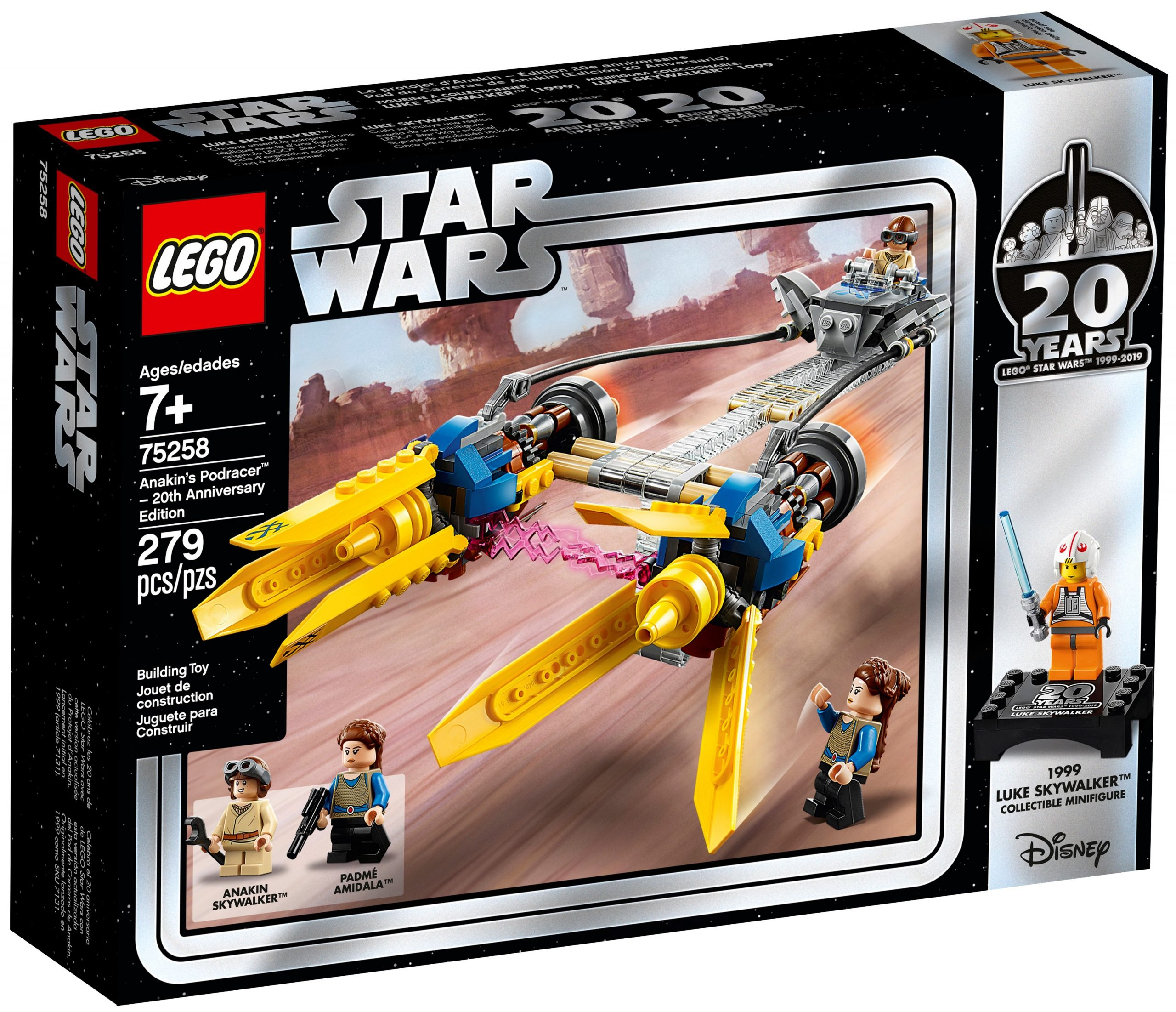 anakins podracer 20 jahre lego 75258 star wars scaled