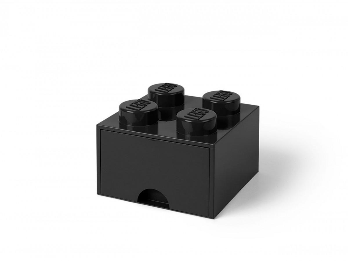 lego 5005711 aufbewahrungsstein mit 4 noppen und schubfach in schwarz scaled