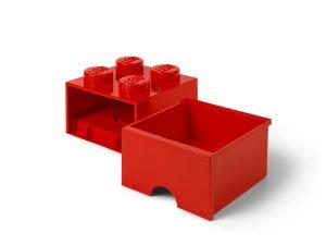 lego 5006129 aufbewahrungsstein mit schubfach und 4 noppen in rot