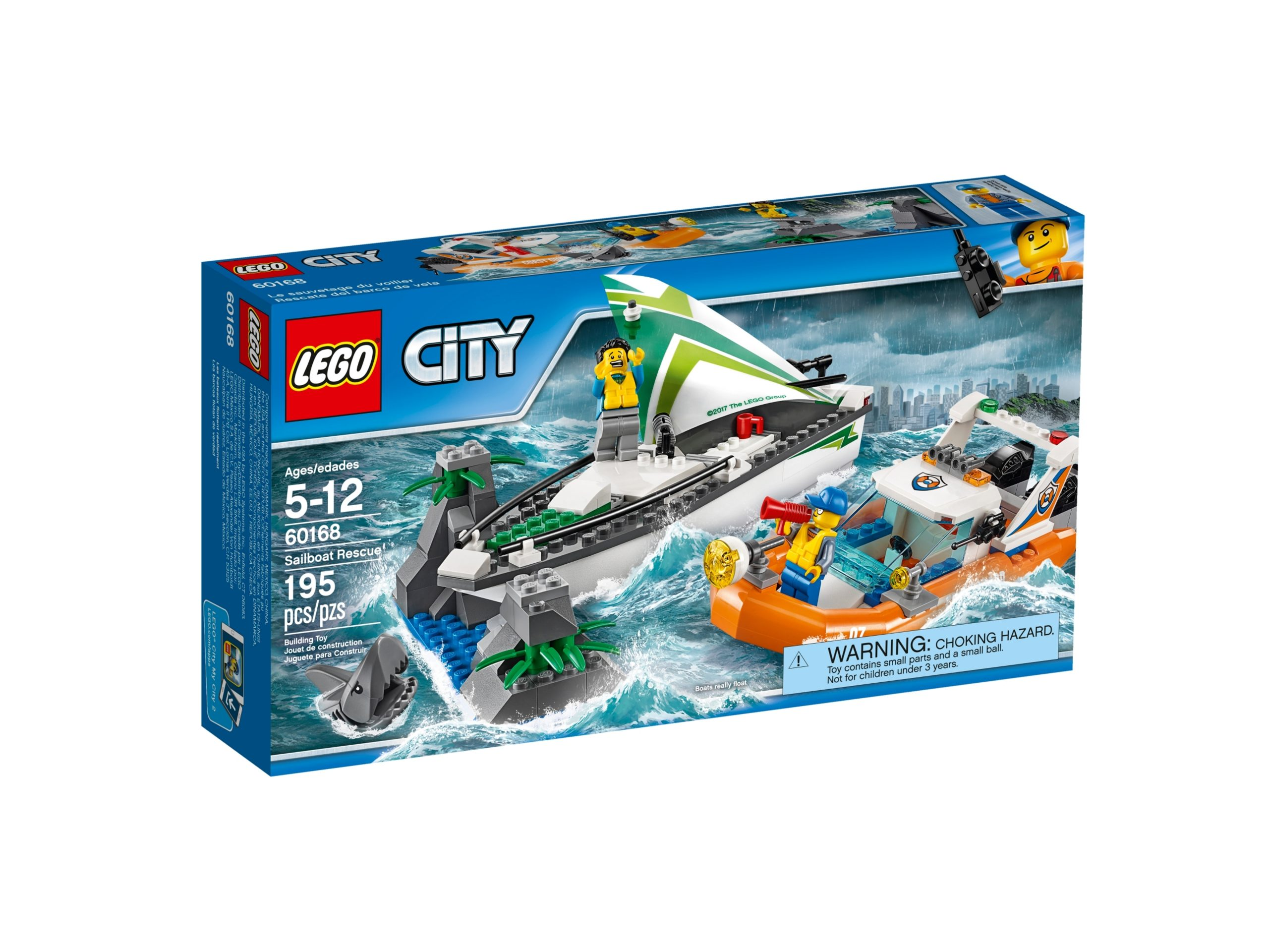lego 60168 segelboot in not scaled