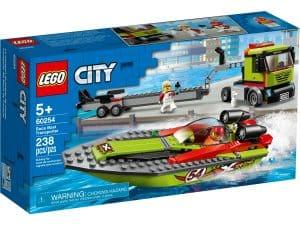 lego 60254 rennboot transporter