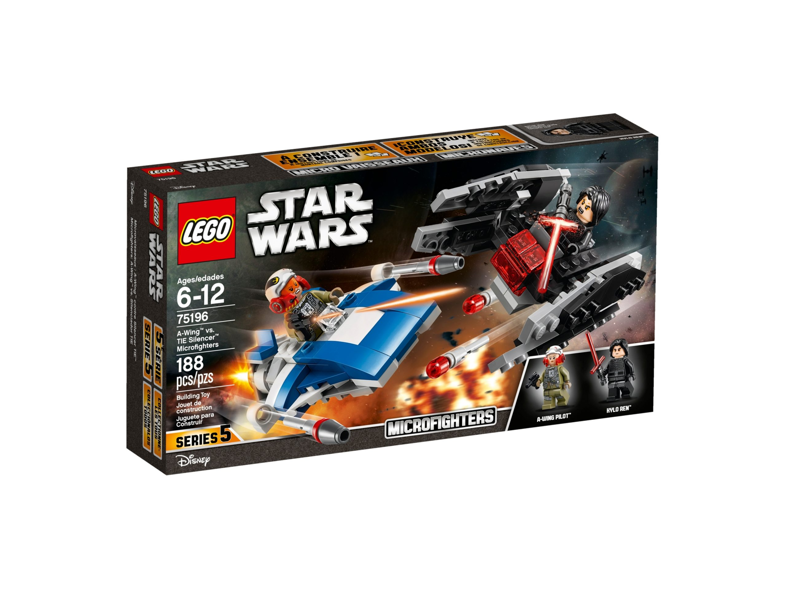 lego 75196 a wing vs tie silencer microfighters scaled