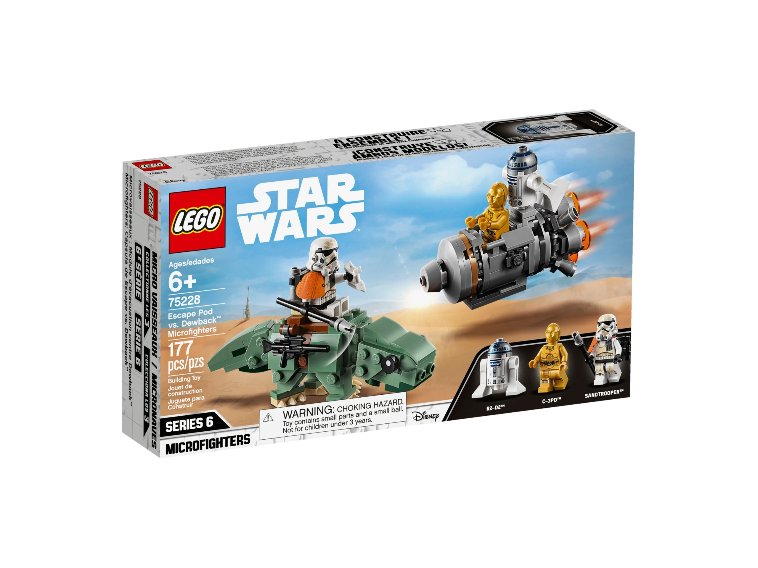 lego 75228 escape pod vs dewback microfighters scaled