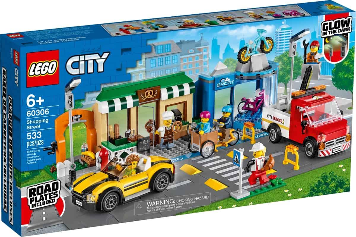 lego 60306 einkaufsstrase mit geschaften