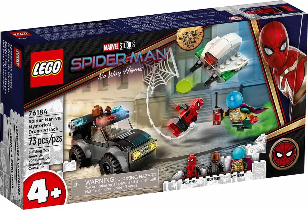 lego 76184 mysterios drohnenattacke auf spider man