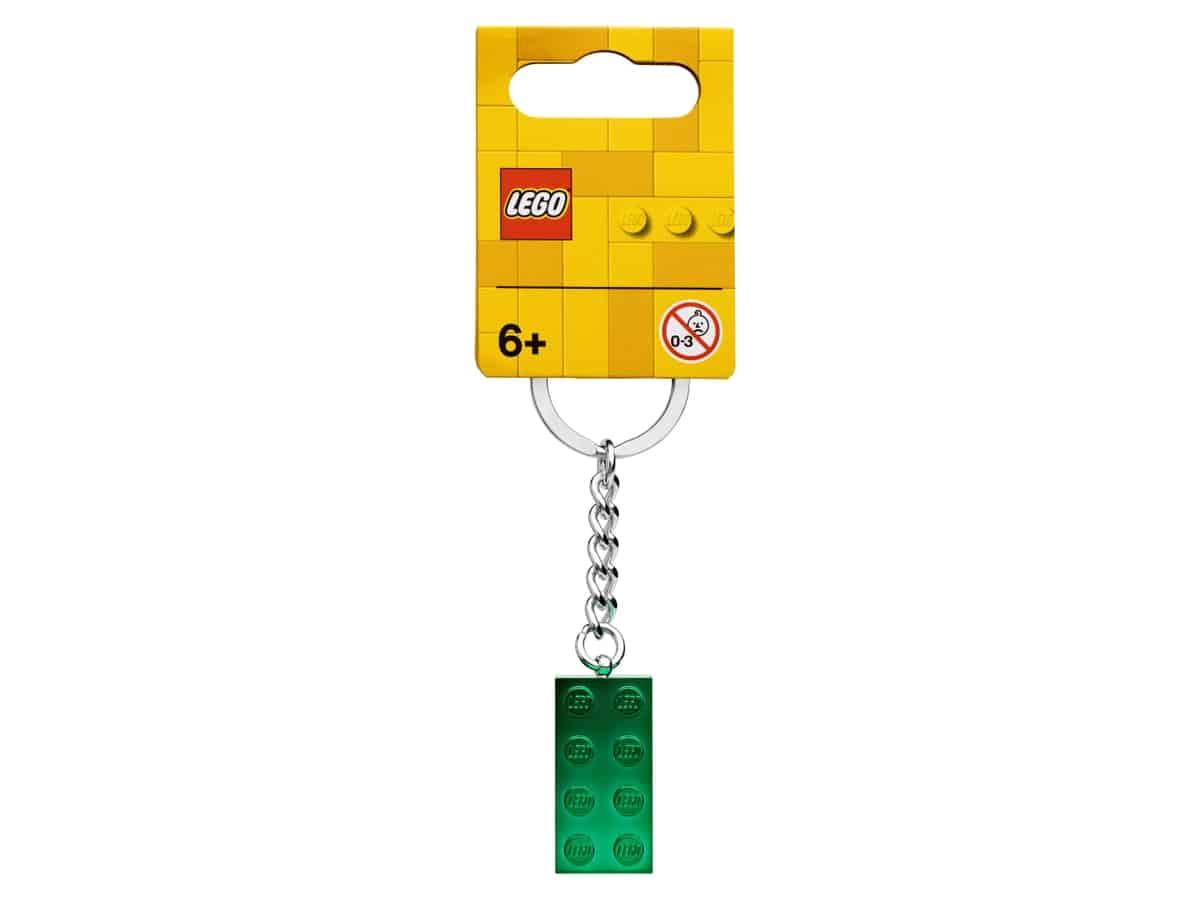 lego 854083 schlusselanhanger mit 2x4 stein in grunmetallic